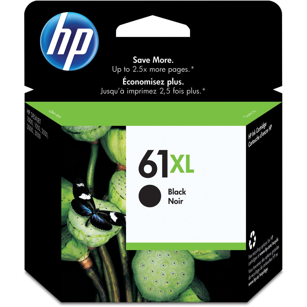 HP 61XL Original Ink Cartridge - Single Pack - Inkjet - High Yield - 480 Pages - Black - 1 Each