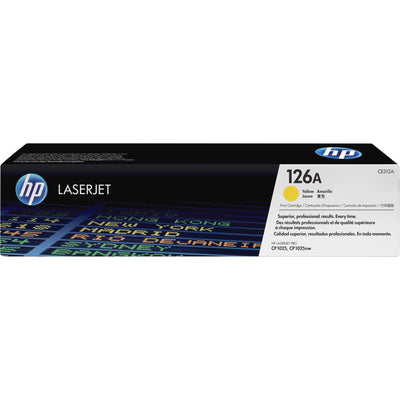 HP 126A Original Toner Cartridge - Single Pack - Laser - Standard Yield - 1000 Pages - Yellow - 1 Each