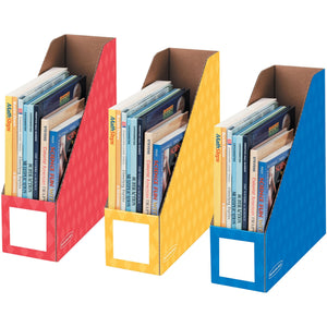 Fellowes 4in Magazine File Holders   Primary  3pk