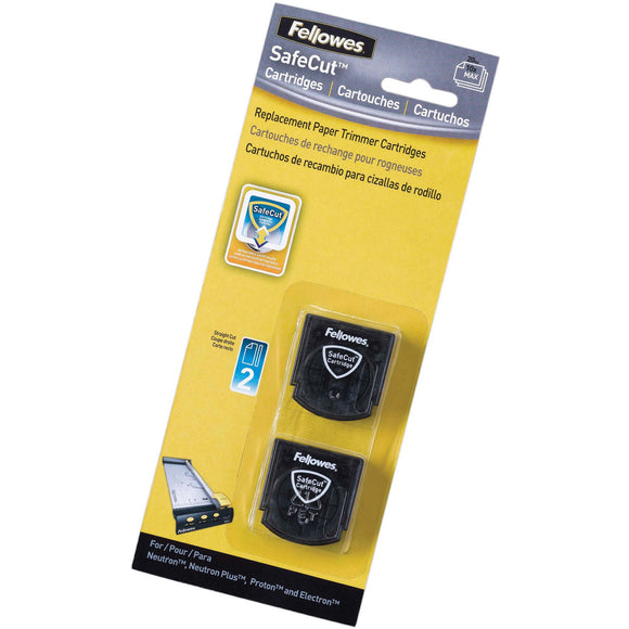 Fellowes SafeCut&trade Rotary Trimmer Blades   2Pk Straight