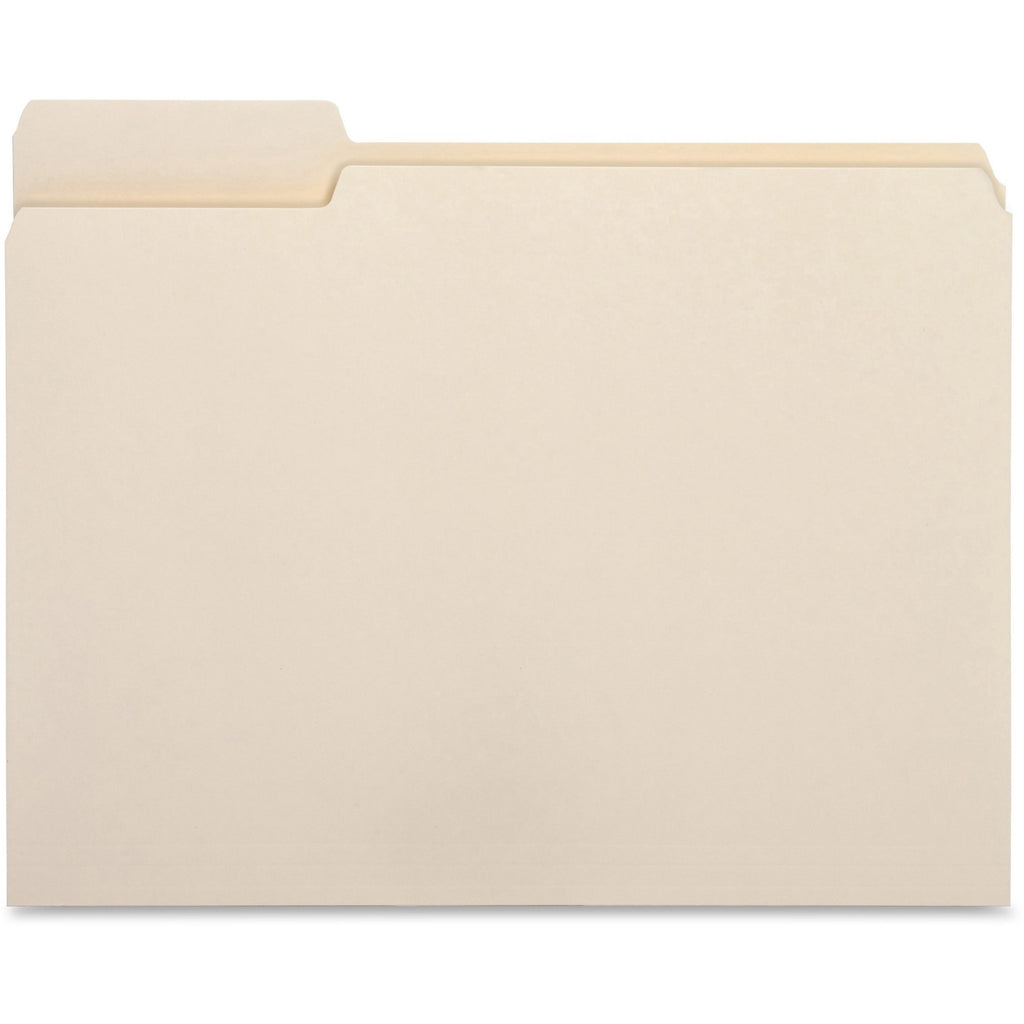 Business Source 1 3 Cut Tab File Folders, letter, left tab, 100/box