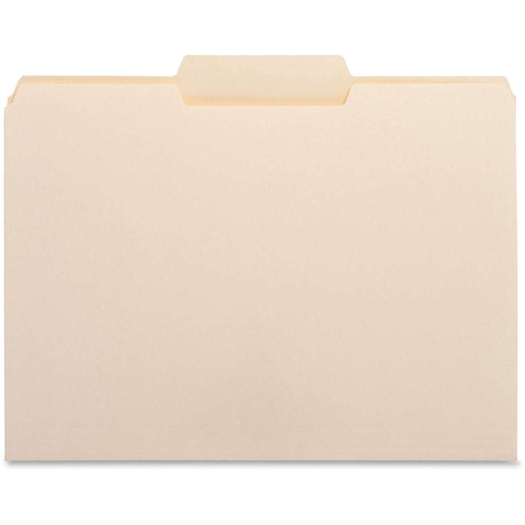 Business Source 1 3 Cut Tab File Folders, letter, middle tab, 100/box