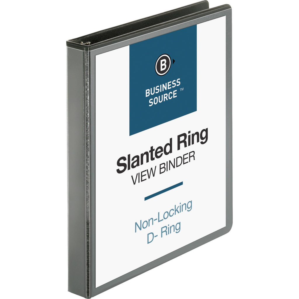 "Business Source Basic D Ring View Binders  1"" Binder Capacity"