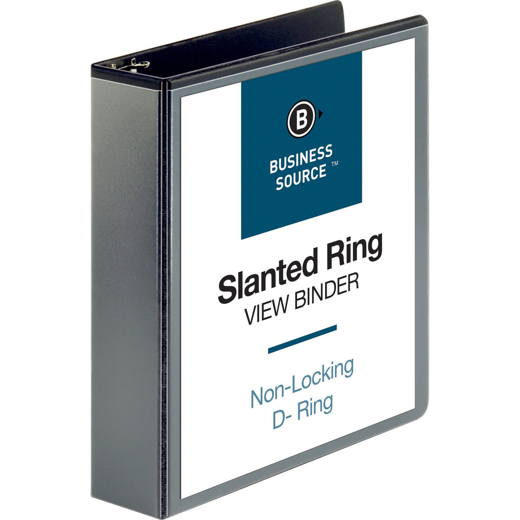 "Business Source Basic D Ring View Binders  - 2"" Binder Capacity"