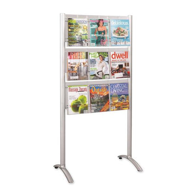 Safco 9 Pocket Magazine Floor Stand