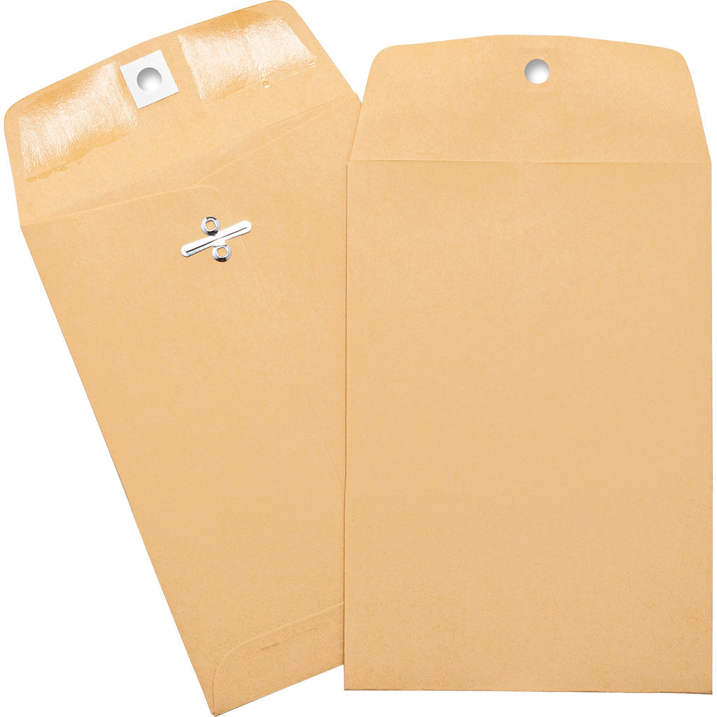 "Business Source Heavy duty Clasp Envelopes  5"" Width x 7 1/2"" Length 100pk"