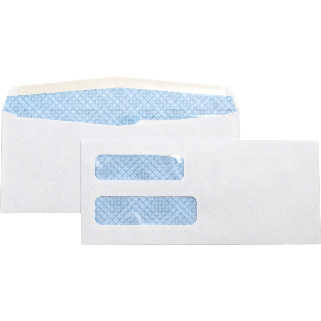 Business Source No. 10 Double Window Invoice Envelopes