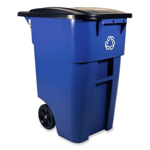 Rubbermaid Brute Recycling Rollout Container with Lid
