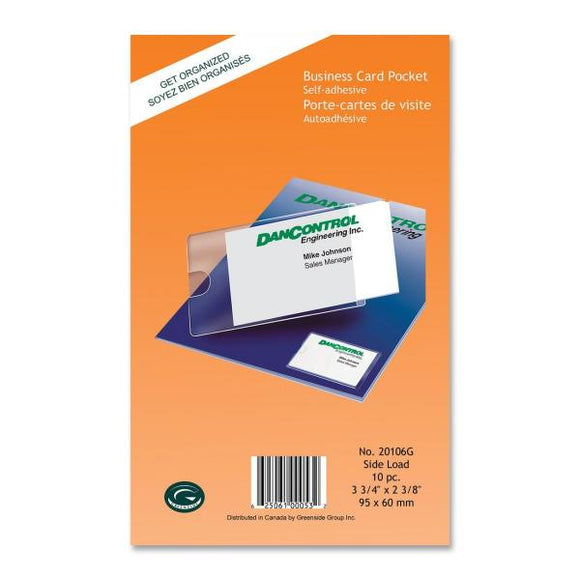 Greenside Self Adhesive Business Card Pocket