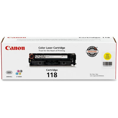 Canon CART 118Y Toner Cartridge - Laser - 2900 Pages - 1 Each