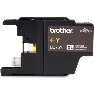 Brother LC 75 YS Original Ink Cartridge - Inkjet - 600 Pages - Yellow - 1 Each