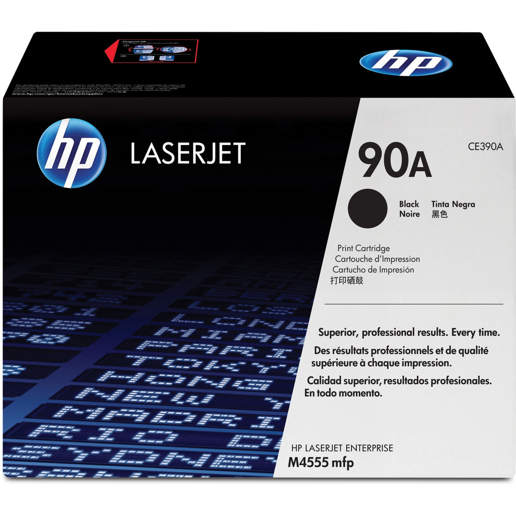 HP 90A Original Toner Cartridge - Single Pack - Laser - 10000 Pages - Black - 1 Each