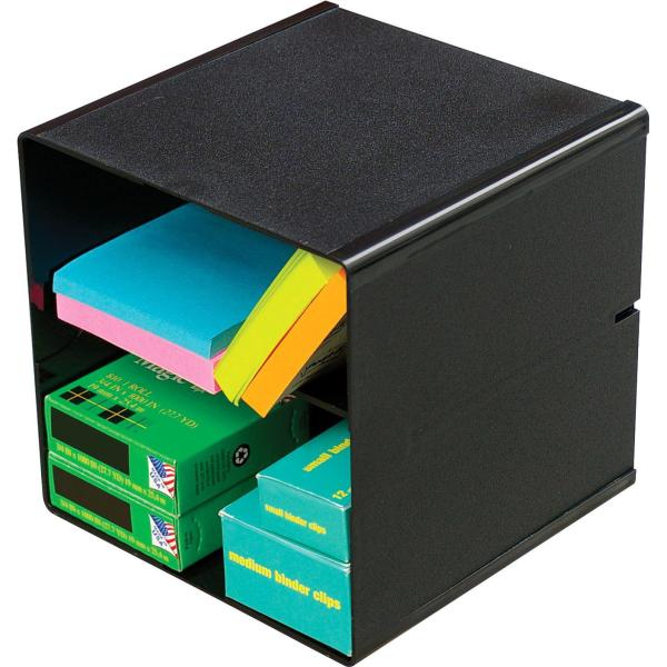 Deflecto Divided Stackable Cube Organizer
