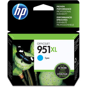 HP 951XL Original Ink Cartridge - Single Pack - Inkjet - Cyan - 1 Each