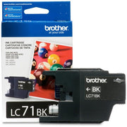 Brother Innobella LC 71 BK Original Ink Cartridge - Inkjet - 300 Pages - Black - 1 Each