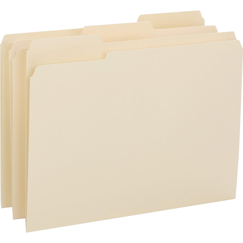 Business Source 1 3 cut 1 ply Tab File Folders, letter, assorted tab, 50/box