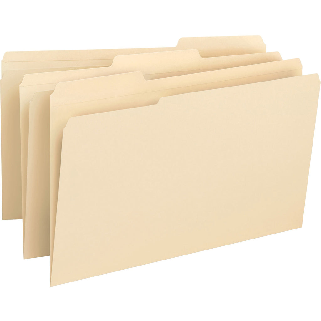 Business Source 1 3 cut 1 ply Tab File Folders, legal, assorted tab, 50/box