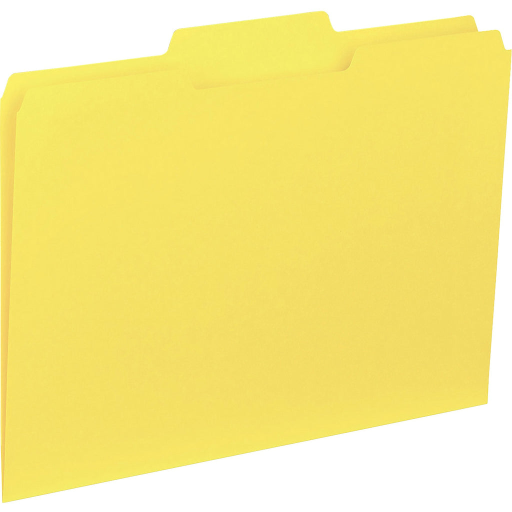 Business Source 1 3 cut Colored Interior File Folders Letter