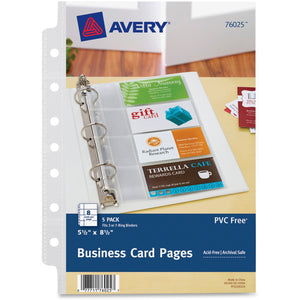 Avery Business Card Pages 8/pg 5pk