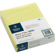 Business Source Glued Top Ruled Memo Pads   Letter 12PK