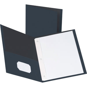 Business Source Storage Pockets Fastener Folders 25PK
