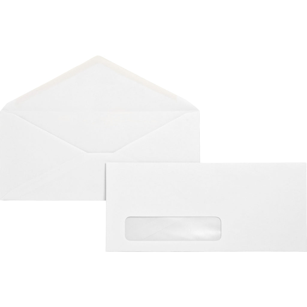 Business Source No. 10 Diagonal Seam Window Envelopes