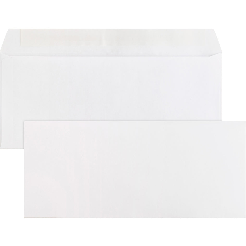 Business Source Plain Peel Seal Business Envelopes #10 4 1/8 x 9.5 500/box