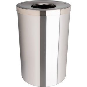 Genuine Joe 30 Gal Stainless Steel Trash Receptacle
