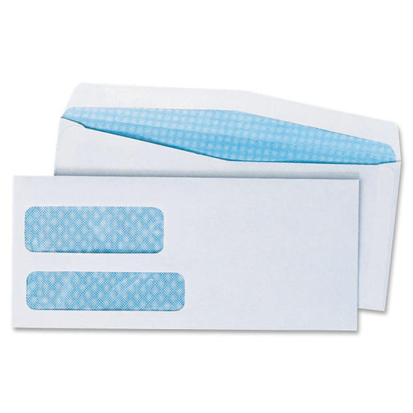 Quality Park Double Window Security Envelope  No. 9