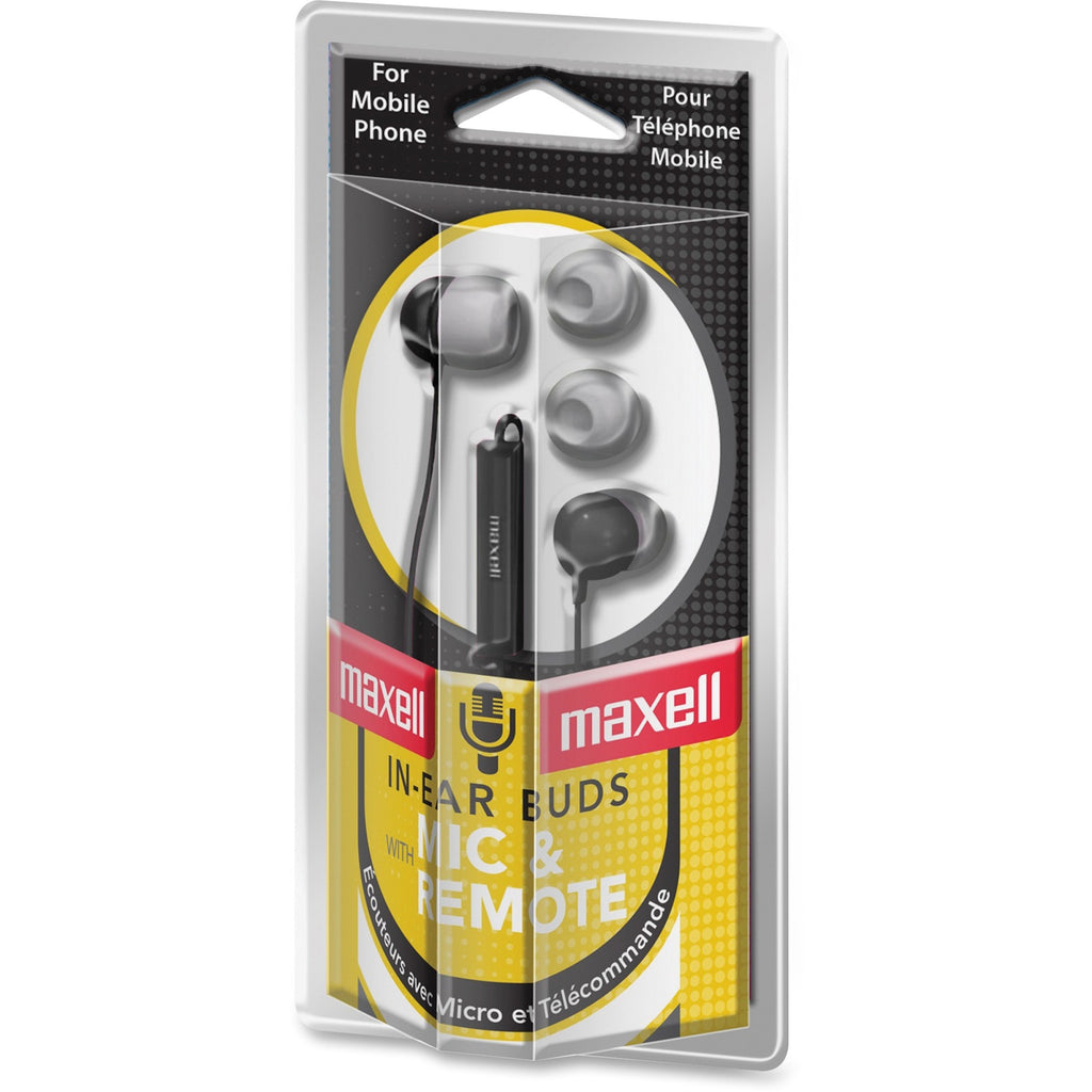 Maxell In Ear Earbuds with Microphone and Remote