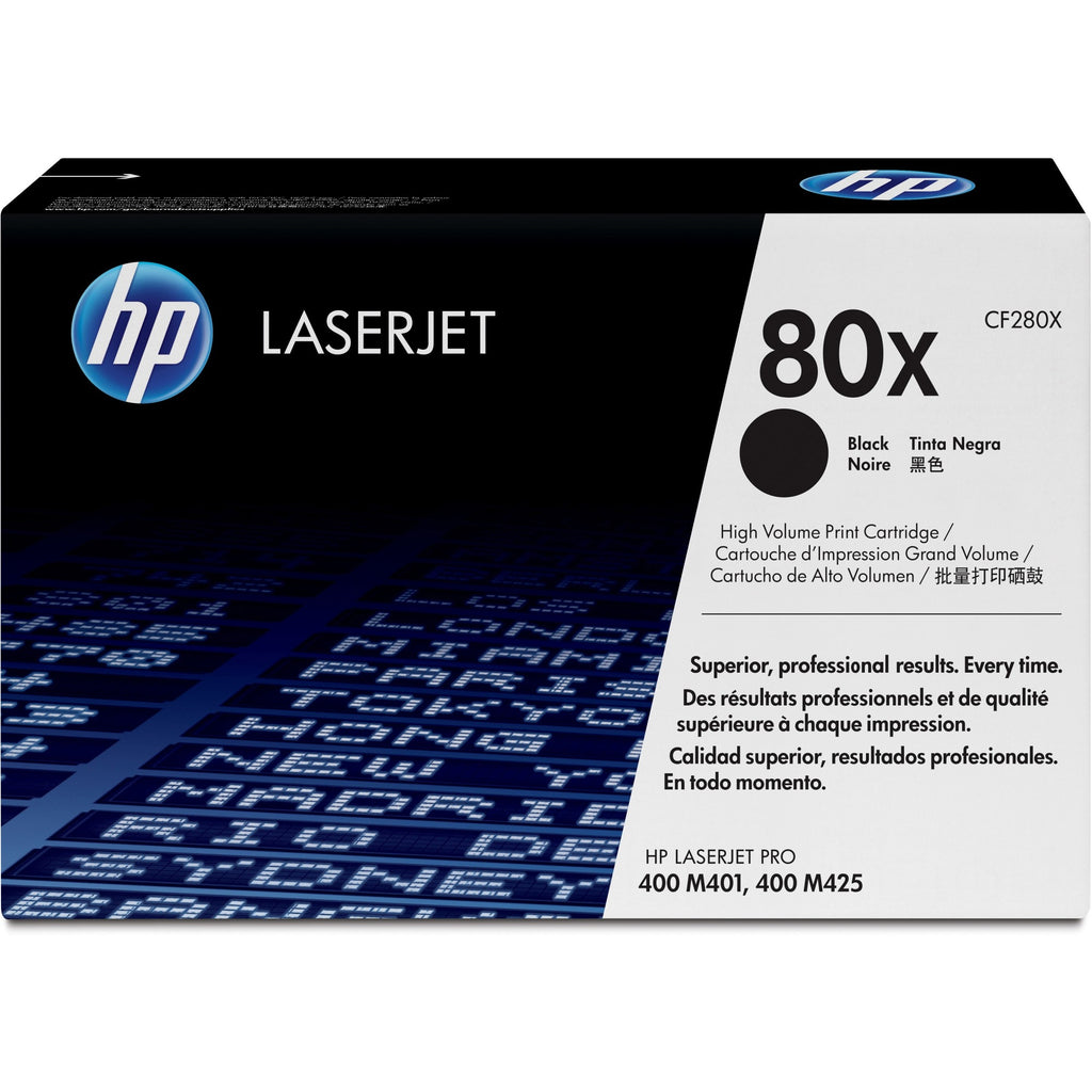 HP 80X Original Toner Cartridge - Single Pack - Laser - 6900 Pages - Black - 1 Each