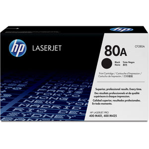 HP 80A Original Toner Cartridge - Single Pack - Laser - Standard Yield - 2700 Pages - Black - 1 Each