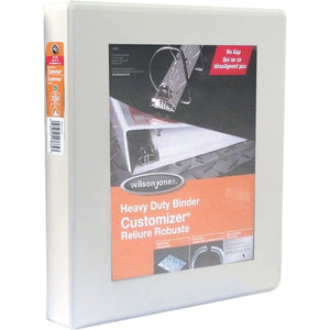 "Wilson Jones ENVI Heavy-duty Customizer D-ring View Binder - 1"" - White"