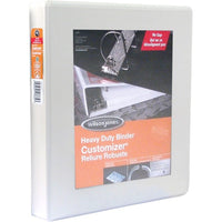 "Wilson Jones ENVI Heavy-duty Customizer D-ring View Binder - 1 1/2"" - White"