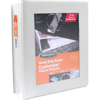 "Wilson Jones ENVI Heavy-duty Customizer D-ring View Binder - 3""  - White"
