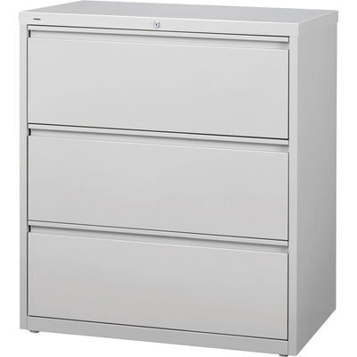 Lorell 3 Drawer Light Gray Lateral Files