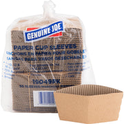Genuine Joe Protective Corrugated Hot Cup Sleeves