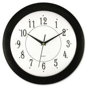 Artistic 12in Black Frame Round Wall Clock 12""