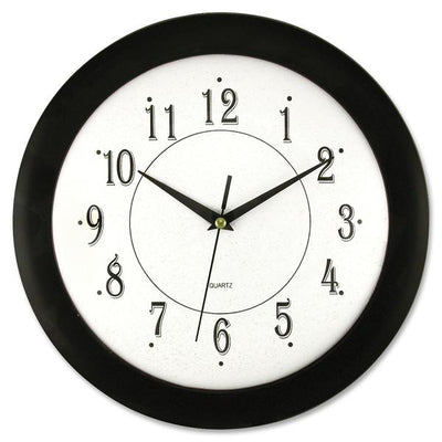 Artistic 12in Black Frame Round Wall Clock 12