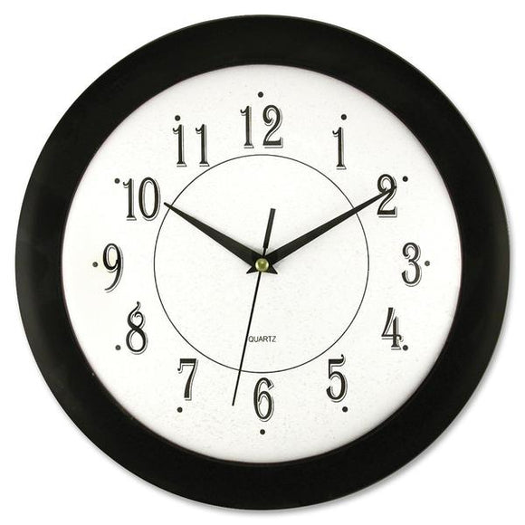 Artistic 12in Black Frame Round Wall Clock