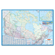 CCC Laminated Detailed Canada Wall Map
