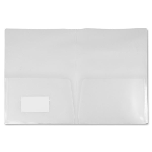Winnable Two Pocket Clear Poly Portfolio