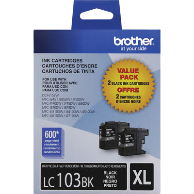 Brother Innobella LC 103 2PKS Original Ink Cartridge - Inkjet - High Yield - 600 Pages - Black