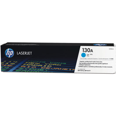 HP 130A Original Toner Cartridge - Single Pack - Laser - 1000 Pages - Cyan - 1 Each
