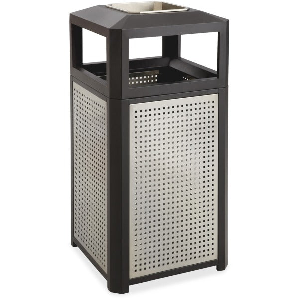 Safco Evos Ash Tray 15 gal Steel Waste Receptacle