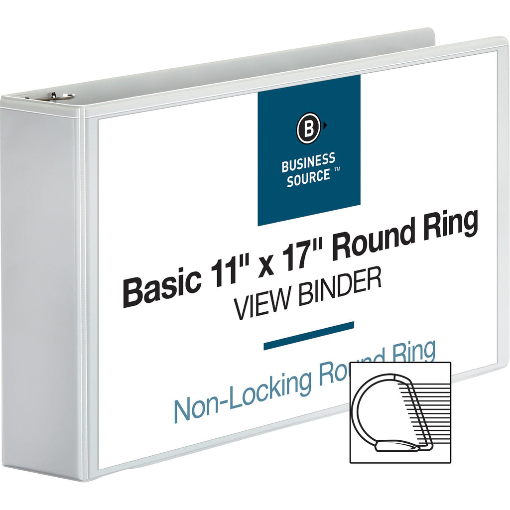 "Business Source Tabloid size Round Ring Reference Binder 3"" Tabloid - 11"" x 17"""