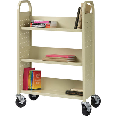 Lorell Single sided Book Cart