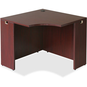 Lorell Essentials Series Mahogany Corner Desk