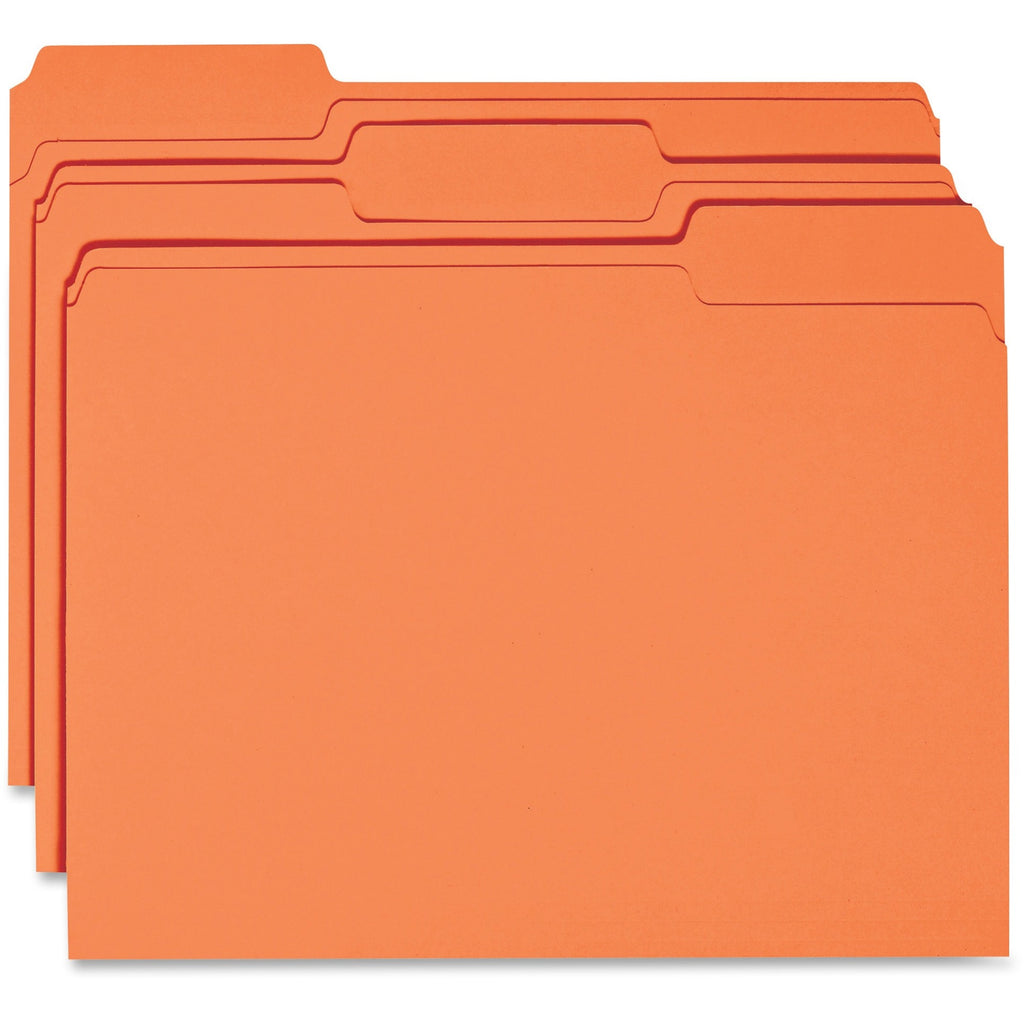 Business Source 1 ply Tab Colored File Folder Letter