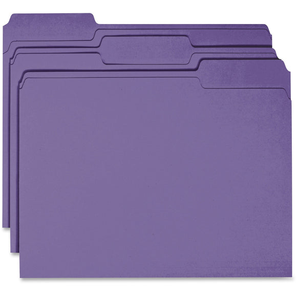 Business Source 1 ply Tab Colored File Folder